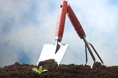 Strumenti di giardinaggio nuovi, cassetto della canna Immagine Stock Libera da Diritti
