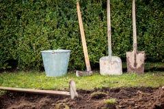 Strumenti di giardino Fotografie Stock Libere da Diritti