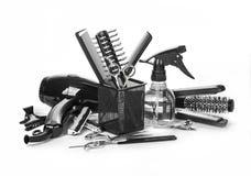 Strumenti di lavoro di parrucchiere fotografie stock libere da diritti