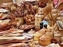 Strumenti di legno della cucina Fotografie Stock