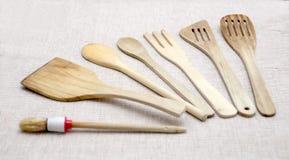 Strumenti di legno della cucina di Abobe Fotografie Stock