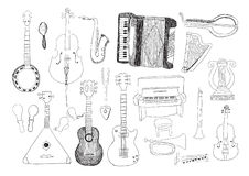 Strumenti di musica Fotografia Stock