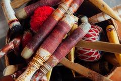 Strumenti di musica tradizionali di balinese, Ubud, Bali Fotografia Stock