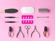 Strumenti di pedicure e del manicure immagine stock