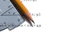 Strumenti di per la matematica Fotografia Stock