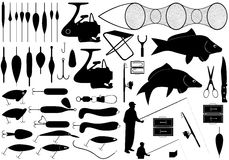 Strumenti di pesca Immagine Stock Libera da Diritti