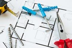 Strumenti di piano della costruzione Fotografie Stock