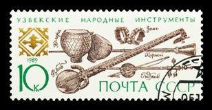 Strumenti di piega dell'Uzbeco, serie degli strumenti musicali, circa 1989 Fotografie Stock Libere da Diritti