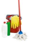 Strumenti di pulizia Fotografie Stock