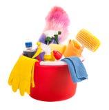 Strumenti di pulizia Fotografia Stock