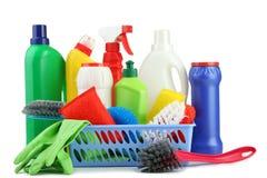 Strumenti di pulizia e del detersivo immagini stock