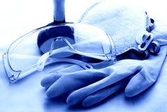 Strumenti di sicurezza chimica Fotografie Stock Libere da Diritti