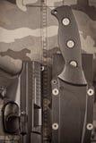 Strumenti di un soldato delle forze speciali Fotografia Stock