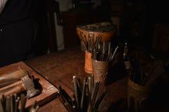 Strumenti di uno Scuptor Fotografie Stock