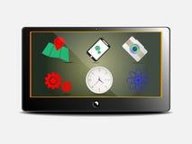 Strumenti di web dello schermo del computer portatile, vettore dell'illustrazione Fotografia Stock