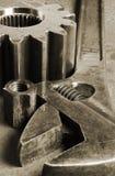 Strumenti e serraglio della ruota dentata Fotografie Stock Libere da Diritti