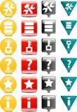 Strumenti ed icona della base di dati Fotografia Stock