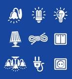 Strumenti elettrici delle icone Fotografia Stock