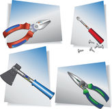 Strumenti manuali della costruzione Illustrazione colorata di vettore illustrazione di stock