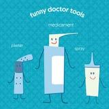 Strumenti medici e medicine Fotografia Stock