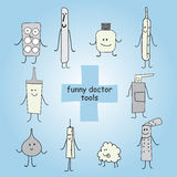 Strumenti medici e medicine Fotografia Stock Libera da Diritti