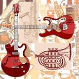 Strumenti musicali Fotografia Stock