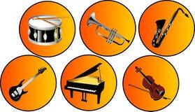 Strumenti musicali Immagini Stock Libere da Diritti