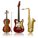 Strumenti musicali Fotografie Stock Libere da Diritti