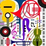 Strumenti musicali astratti Fotografia Stock
