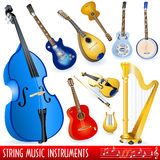 Strumenti musicali della stringa Fotografie Stock Libere da Diritti