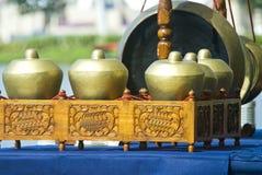 Strumenti musicali di Gamelan Immagini Stock