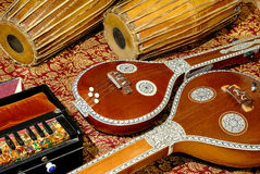 Strumenti musicali indiani Immagine Stock