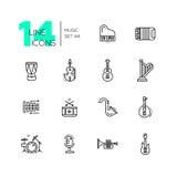 Strumenti musicali - linea icone messe royalty illustrazione gratis