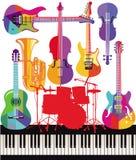 Strumenti musicali variopinti illustrazione di stock