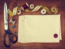 Strumenti per cucire Immagini Stock
