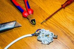 Strumenti per elettricità Fotografia Stock Libera da Diritti