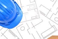 Strumenti per i disegni di costruzione Fotografie Stock Libere da Diritti