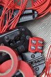 Strumenti per i piegatori e gli accessori degli elettricisti Fotografia Stock