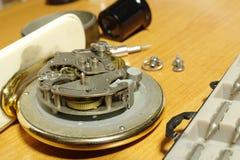 Strumenti per la riparazione dell'orologio Fotografie Stock