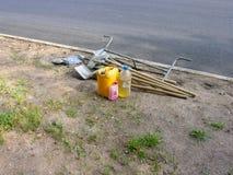 Strumenti per la riparazione delle strade Immagine Stock Libera da Diritti