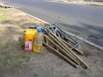Strumenti per la riparazione delle strade Fotografie Stock