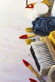 Strumenti per la riparazione domestica Fotografia Stock Libera da Diritti