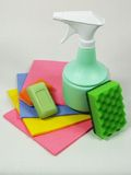 Strumenti per pulire Fotografia Stock
