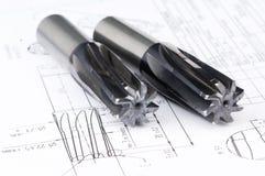 Strumenti rifiniti dello scrematore del metallo immagine stock