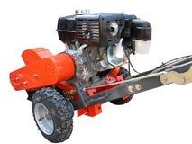 Strumenti rurali - aratro del trattore della mano isolato Immagine Stock Libera da Diritti