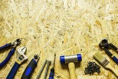 Strumenti sparsi per costruzione e la riparazione Immagini Stock