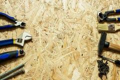 Strumenti sparsi per costruzione e la riparazione Fotografia Stock