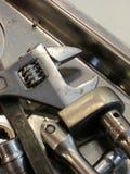 Strumenti tipici del meccanico Fotografie Stock Libere da Diritti
