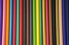 Strumento colourful di legno della tavolozza del fondo della matita di colore Fotografia Stock Libera da Diritti
