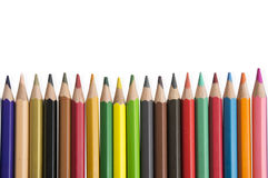 Strumento colourful di legno della tavolozza del fondo della matita di colore Fotografia Stock